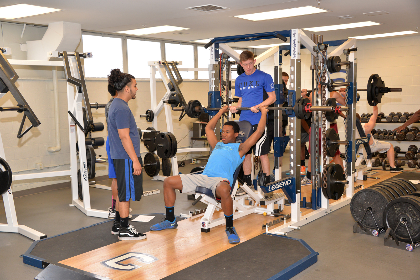 High point central school receives weight room equipment