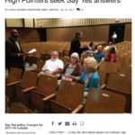 High Point Enterprise covers Say Yes information meeting