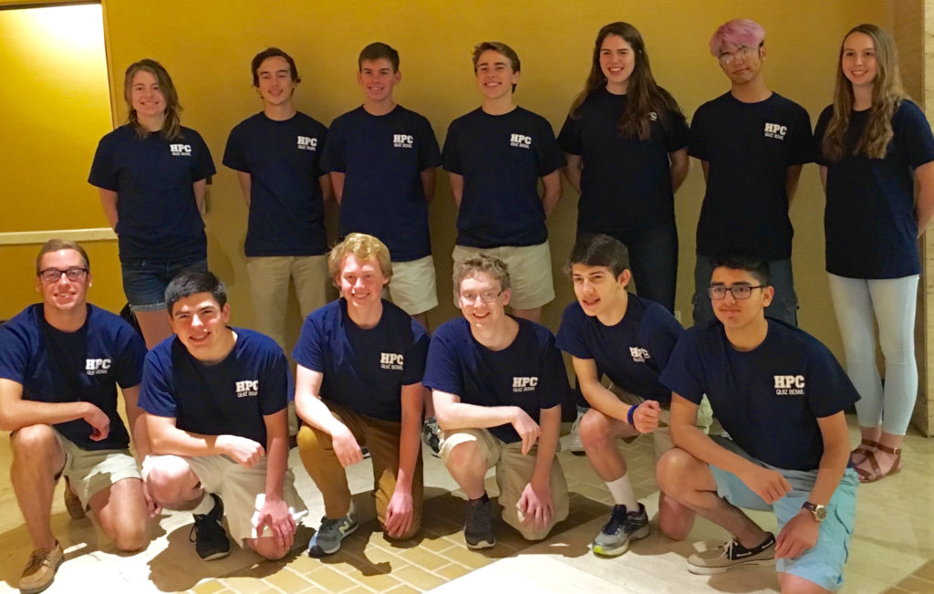 High Point Central Quiz Bowl team1