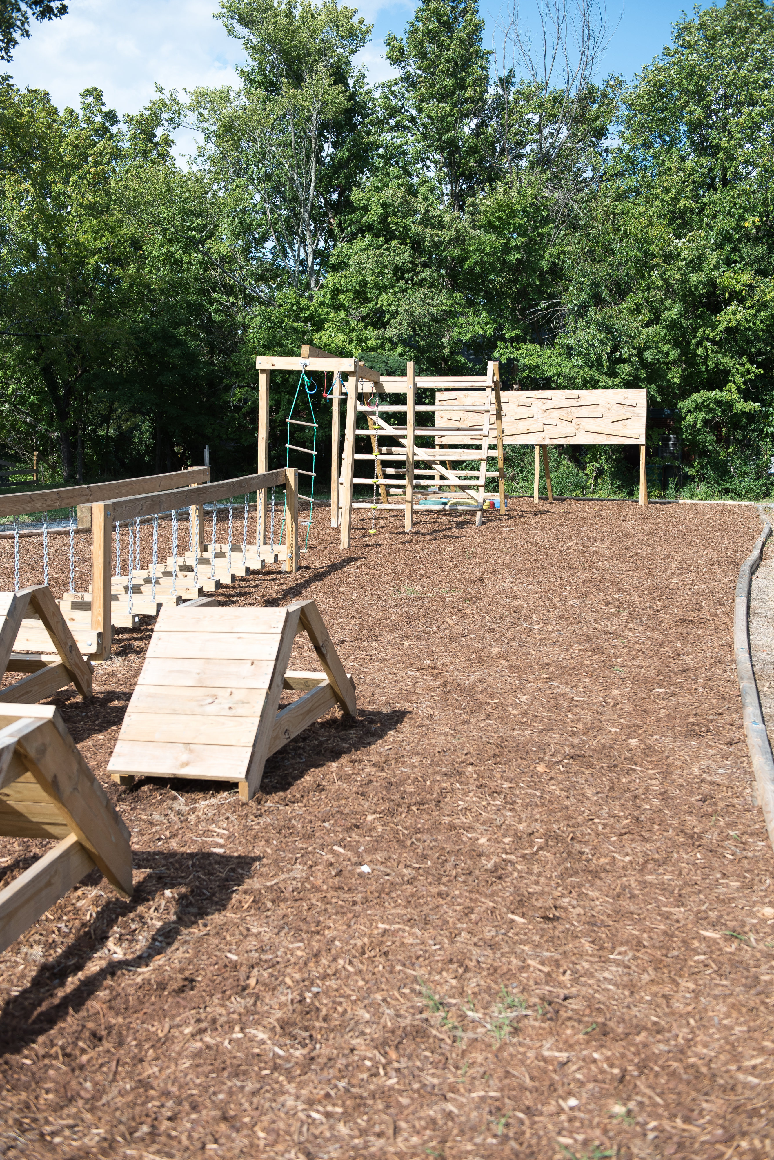 Jesse E. Millis Community Playground obstacle course